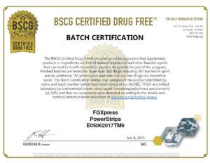 FG xpress BSCG certificat