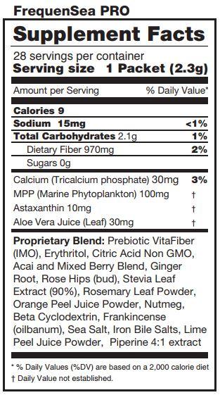frequensea pro ingrédients naturels